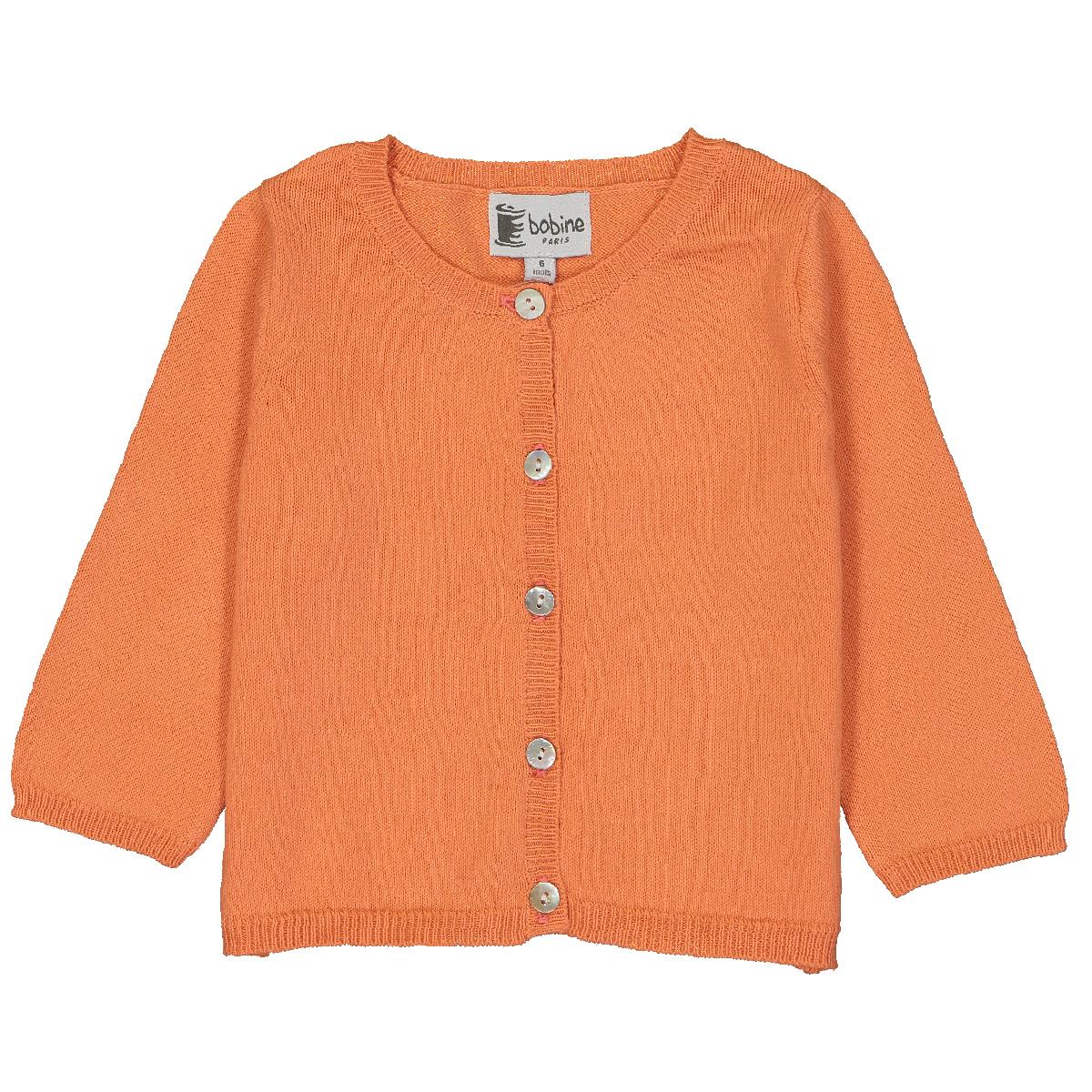 cardigan-bébé-orange