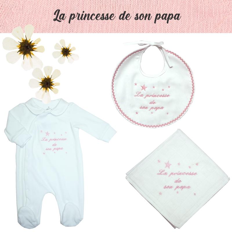 Accessoire de naissance la princesse de son papa