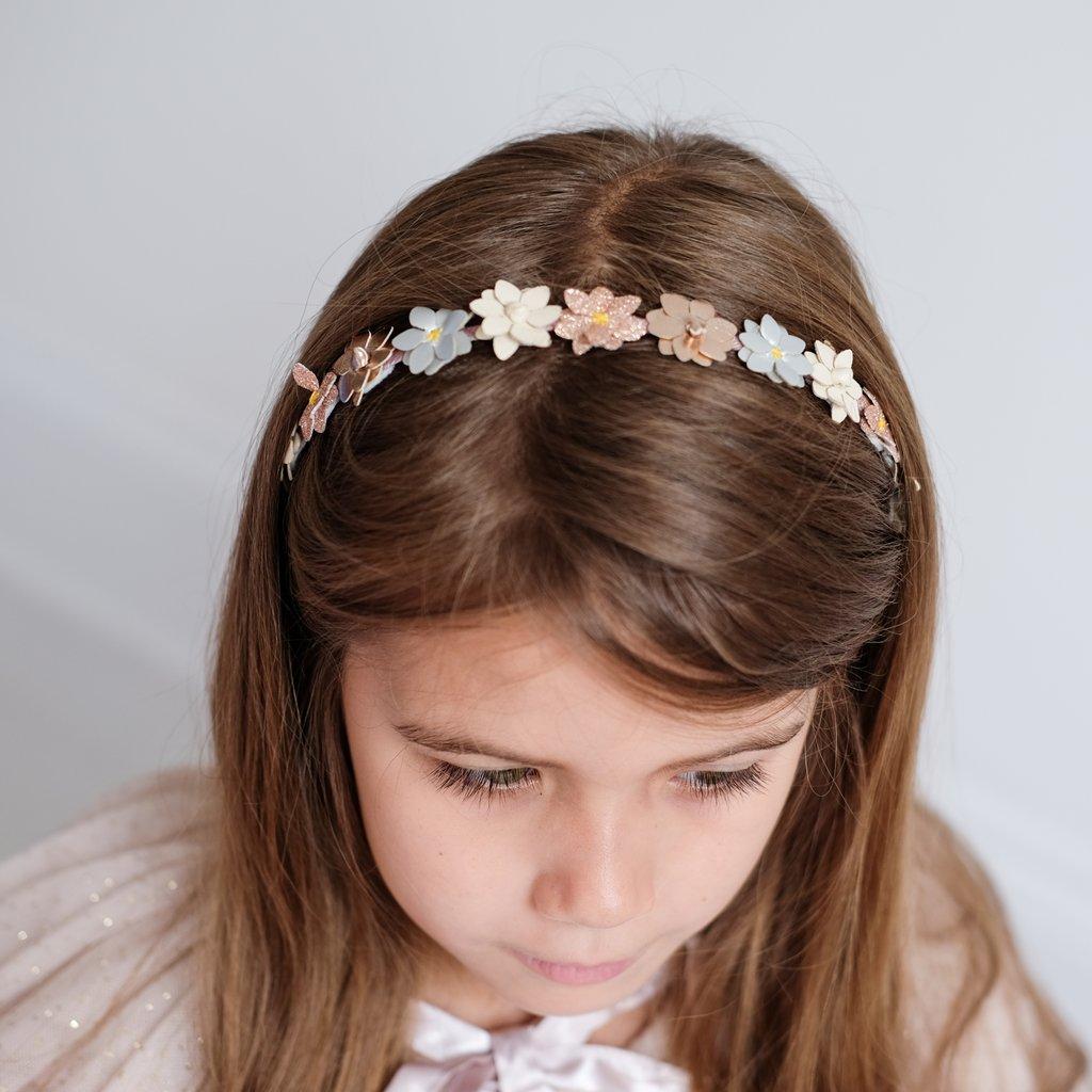 Serre-tête girly fleurs pastels