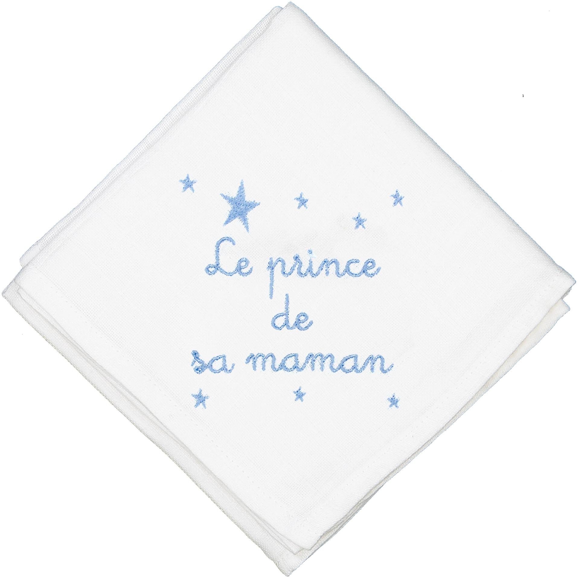 Lange en coton blanc Le prince de sa maman