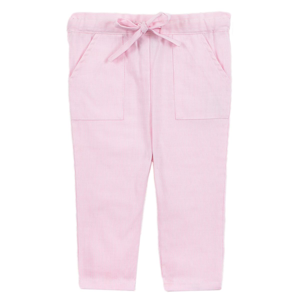 Pantalon bébé petites rayures roses