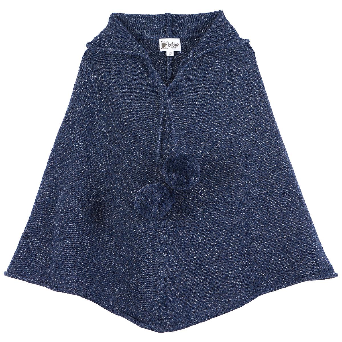 poncho-fille-capuche-sirio-bleu-jean