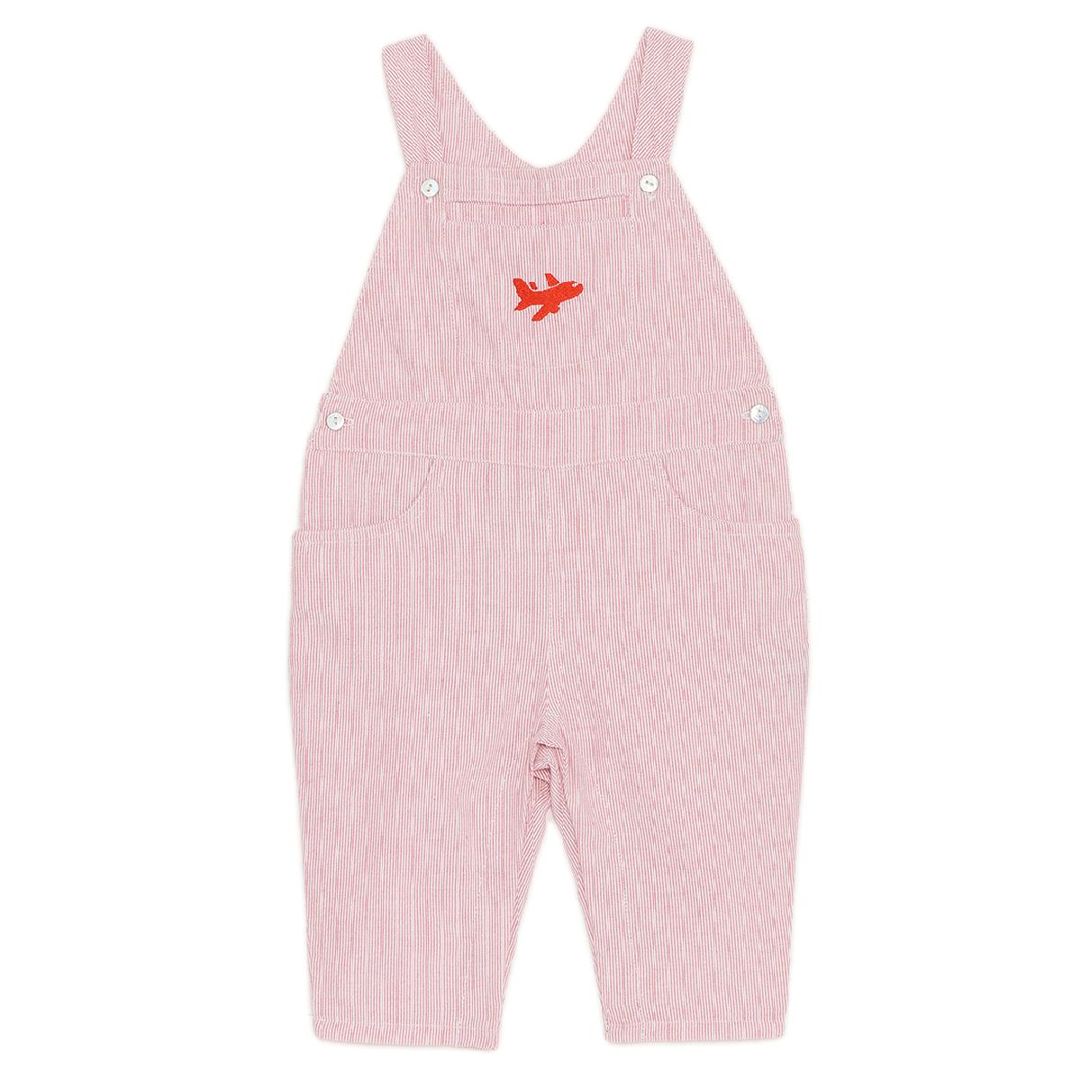 salopette-bébé-garçon-rayures-rouges-pérou