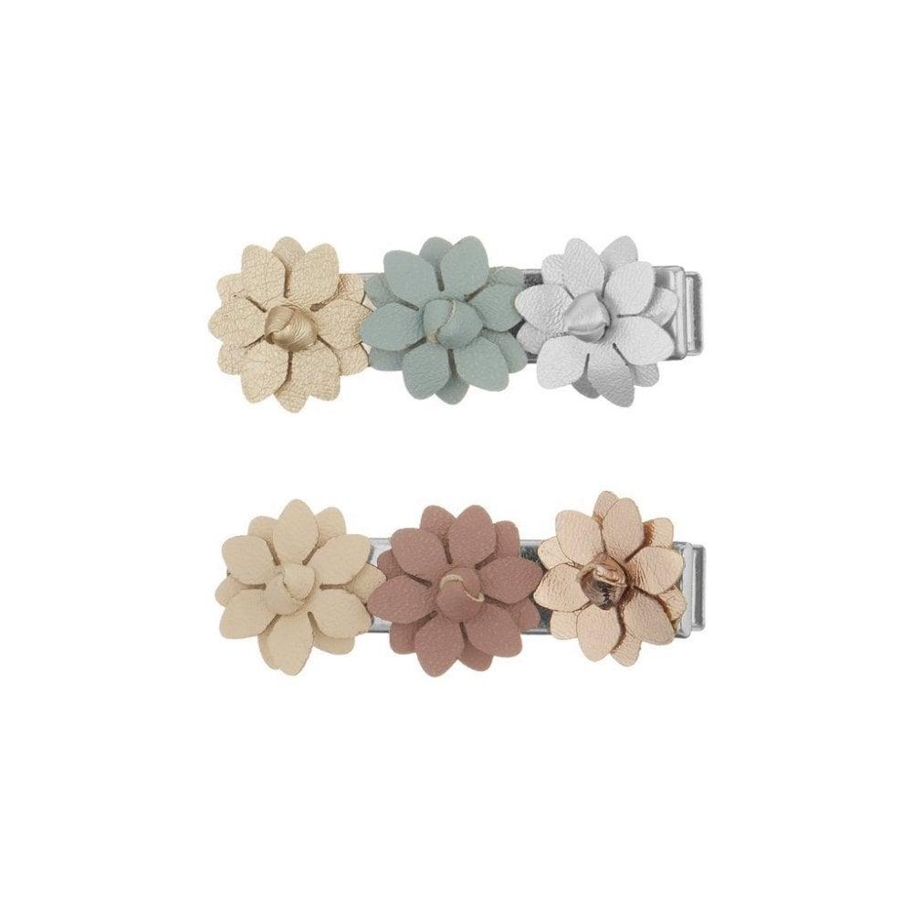 Barrettes à fleurs pastels