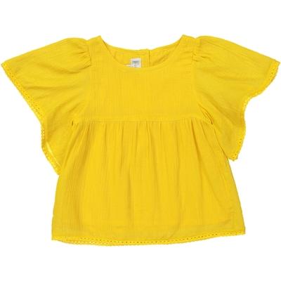 Blouse Fille en crêpe jaune - Golden