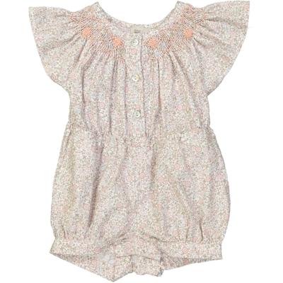 Combishort bébé fille imprimé fleurs - Louisiane