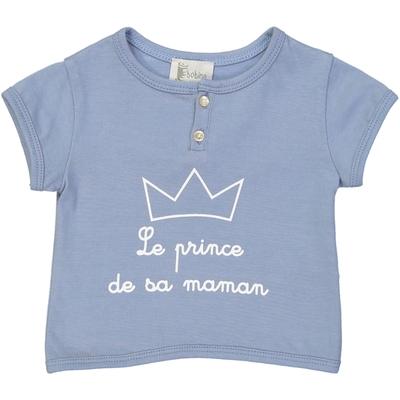 "T-shirt bébé garçon ""Le prince de sa maman"""