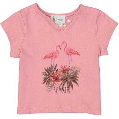 T-shirt bébé fille rose imprimé - Flamant rose