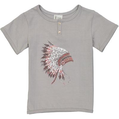 T-shirt garçon gris perle indien<br>Existe uniquement en 2 et 4 ans<br>