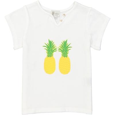 T-shirt fille blanc imprimé