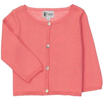 Cardigan bébé fille rose