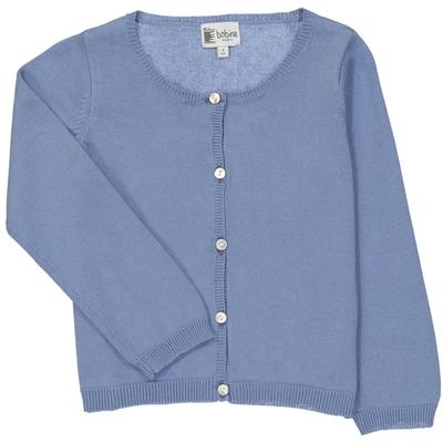 Cardigan fille bleu jean