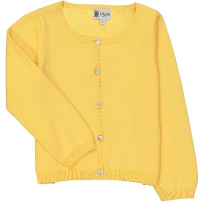 Cardigan fille jaune d'or