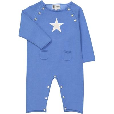 Combinaison bébé étoile bleue - Palace blue