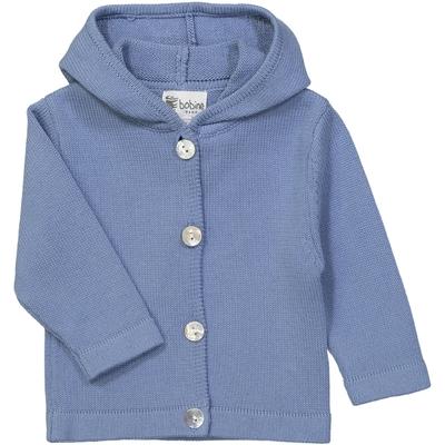 Veste bébé à capuche bleu jean
