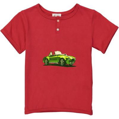 T-shirt garçon rouge voiture de sport<br>Existe uniquement en 2 ans<br>