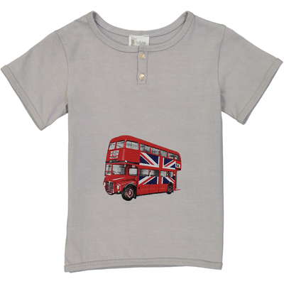 T-shirt Bus Londonien - Gris