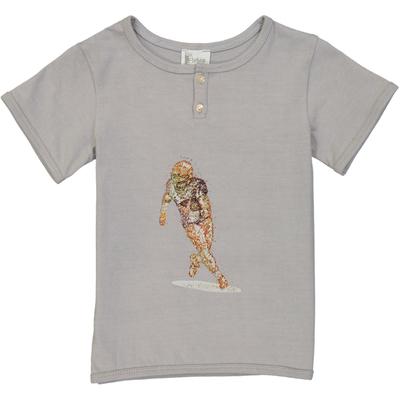 T-shirt garçon footballer - Gris Perle