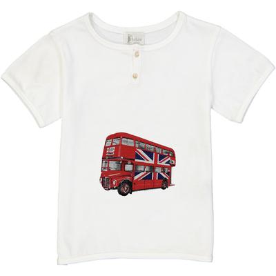 T-shirt blanc - Bus Anglais