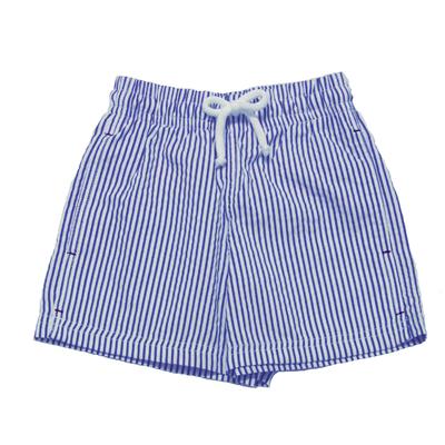 Maillot de bain garçon - Rayures bleu et blanc