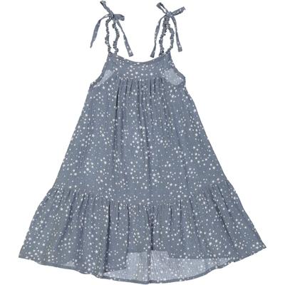 Robe mi-longue bleue imprimée étoiles Washington