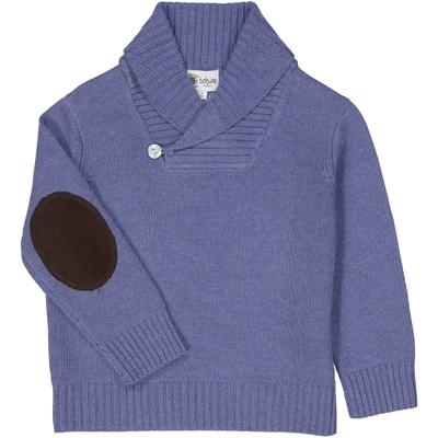 Pull Col Châle - Bleu Jean