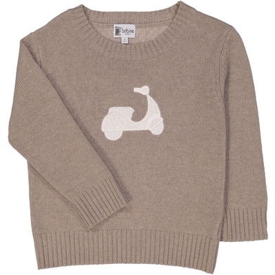 Pull scooter taupe