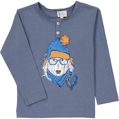 T-Shirt garçon tunisien bleu encre chien