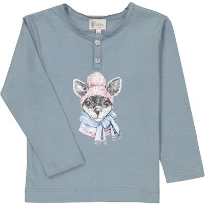 T-Shirt tunisien bleu gris kangourou
