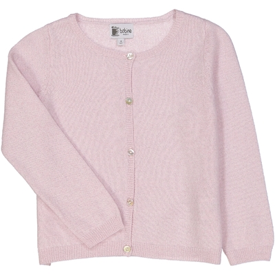 Cardigan pailletté - Rose