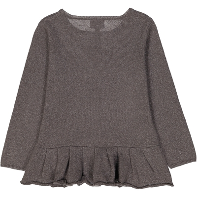 Pull fille Base Volantée Sirio Taupe
