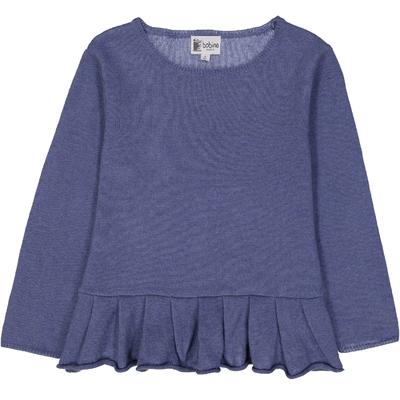 Pull Base Volant - Bleu Jean<br>Disponible uniquement en 2 et 4 ans<br>