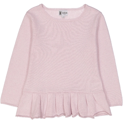 Pull Base Volant - Rose pailleté