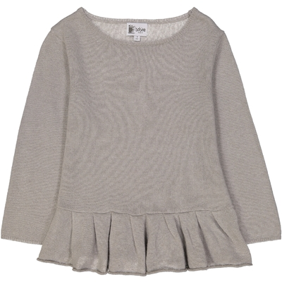 Pull Base Volant - Tilleul