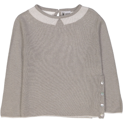 Pull Col Polo - Tilleul