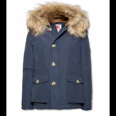 Manteau garçon à capuche bleu charcoal