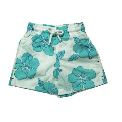 Maillot de bain garçon - Fleurs turquoises