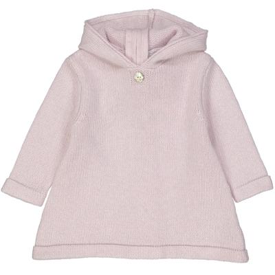 Burnous bébé zippé rose