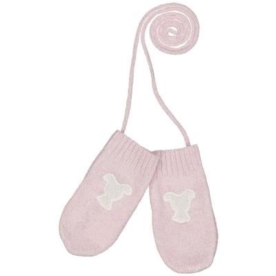 Moufles bébé teddy rose paillettes