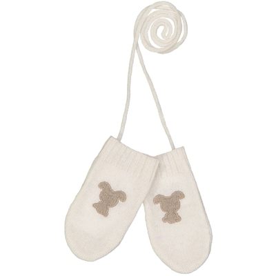 Moufles bébé teddy blanc