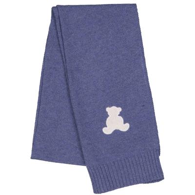 Echarpe bébé ourson bleu jean