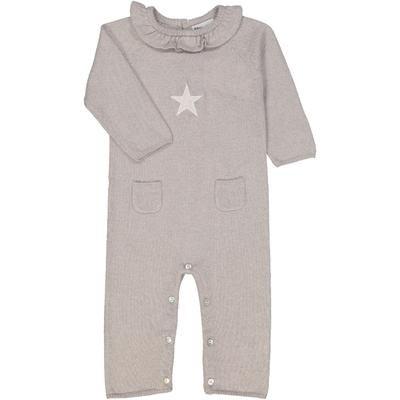 Combinaison bébé étoile col froufrou sirio perle