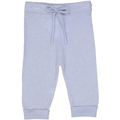Pantalon bébé en laine bleu ciel