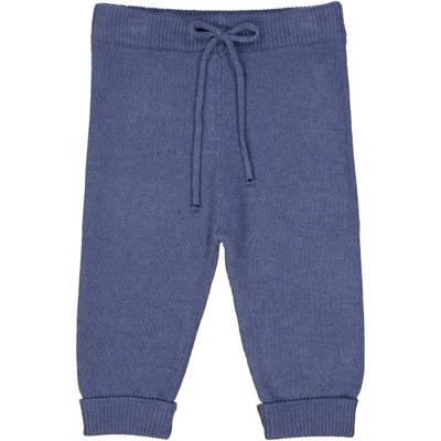 Pantalon bébé en laine bleu jean