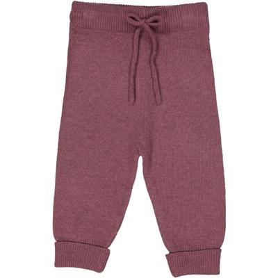 Pantalon bébé en laine prune