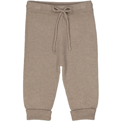 Pantalon bébé en laine taupe