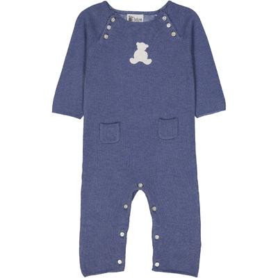Combinaison bébé teddy bleu jean