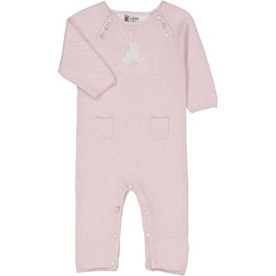 Combinaison bébé teddy rose