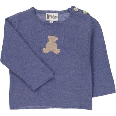 Pull bébé tunisien teddy bleu jean