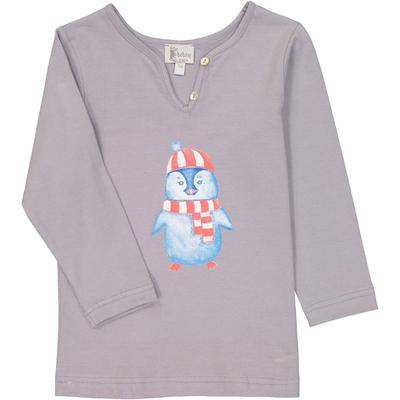 T-shirt fille pingouin perle